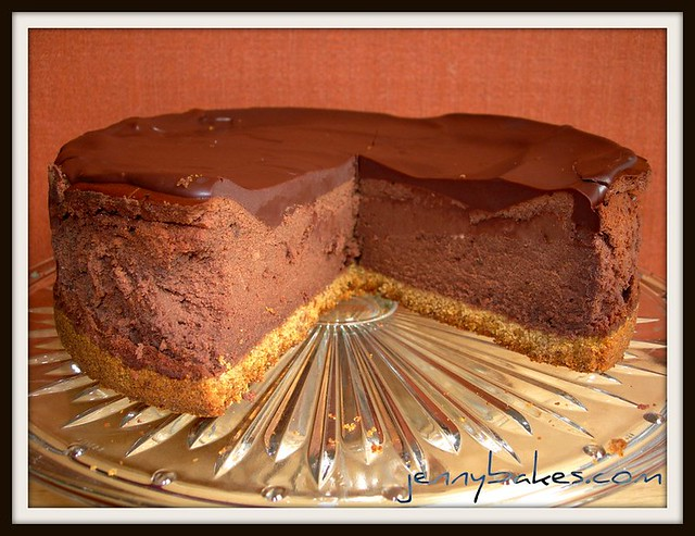 Deepest Darkest Chocolate Cheesecake