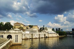 Fairmount (jcm715) Tags: city urban usa reflection building tourism philadelphia water skyline architecture america river ancient museumofart view unitedstates historic grecian vista classical column fairmount artmuseum waterworks neoclassical portico schuylkill antiquity fairmountpark
