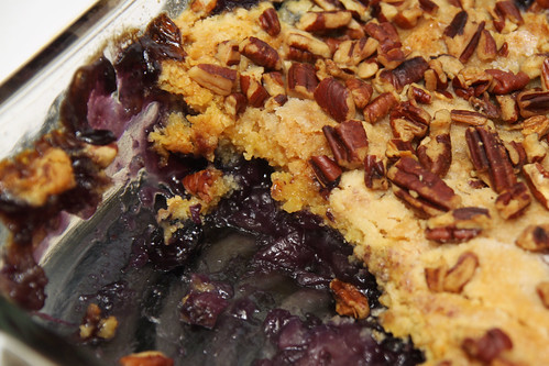 blueberry crisp portion