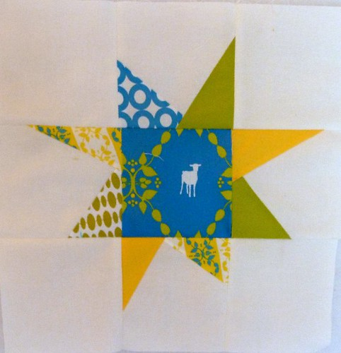 Wonky Star Block - trial for 4x5 {modern} quilt bee by Sarah @ pingsandneedles