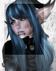 Naniel (Naniel / Rinoa) Tags: closeup piercing sl secondlife plugin trap laq milana insufferabledastard gravesears beastieears