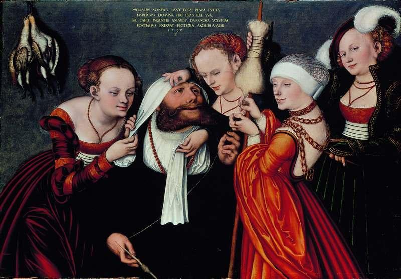 Lucas Cranach L'Ancien, Hercule chez Omphale (1537)