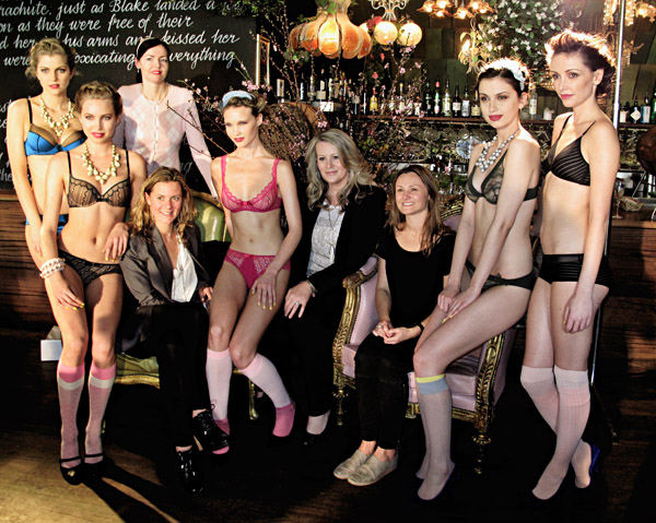 Huit8 lingerie Launch Sydney, Models and Event organisers group shot, Symbol PR