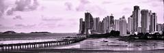 Cityscape (lee_view) Tags: city bridge panorama skyline buildings perspective nikond90