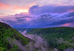 Clouds over the mountains, Blackwater Falls State Park (PhotosToArtByMike) Tags: sunset sky misty clouds cloudy scenic canyon wv westvirginia canaanvalley blackwaterfallsstatepark canyonview landscapephotograph