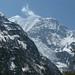 Gangapurna (esq.) e seu glaciar