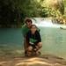 Roy e Mi no parque Tat Kuang Si