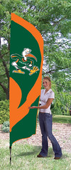 Miami Hurricanes Tall Feather Flag