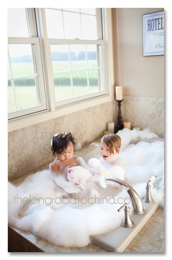 Rub a Dub Dub two girls in the tub BLOG