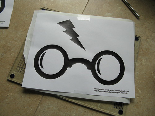harry potter freezer paper stencil