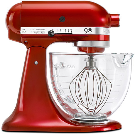 kitchenaid mixer with glass bowl