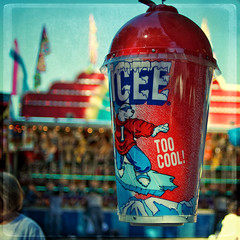 Too cool! (Irene2005) Tags: cup 35mm october bokeh raleigh icee ncstatefair f20 primelens hbw nikond90 somethingicy texturebyessenceofadream