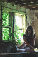 (yyellowbird) Tags: ohio house selfportrait abandoned girl dress yeah cari plaid