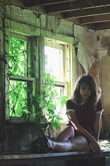 (yyellowbird) Tags: ohio house selfportrait abandoned girl dress yeah cari plaid