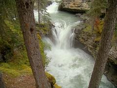 (Rekha Prasad) Tags: park ca canada nature waterfall nationalpark scenery ab explore national alberta banff johnstoncanyon flickrexplore explored naturepoetry explorejul132011