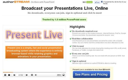 Present Live from authorSTREAM
