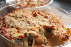 Food Network Friday Presents Aubergine and Sausage Stuffed Shells