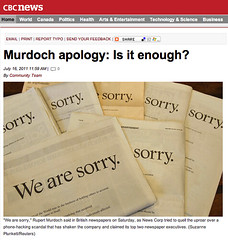 Murdoch apology - Is it enough