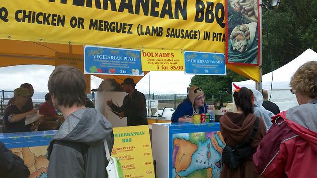 Vancouver Folk Fest food area