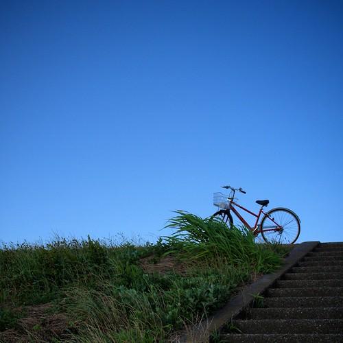自転車置いてちょっと休憩