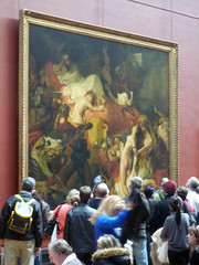 Delacroix, The Death of Sardanapalus with crowd