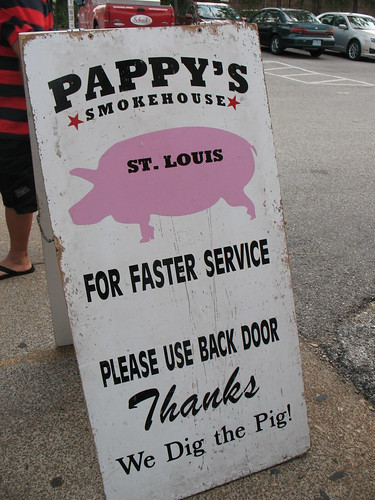 Pappy's Smokehouse: road sign