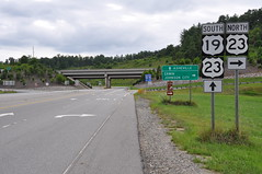 110716-431 Mars Hill (WashuOtaku) Tags: sign highway asheville northcarolina erwin johnsoncity interchange skiarea i26 us19 us23 nikond90 us23a
