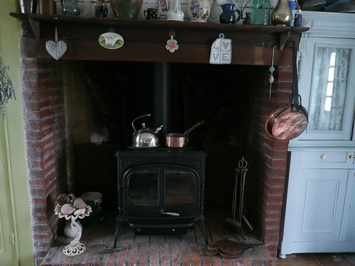 my kitchen fireplace