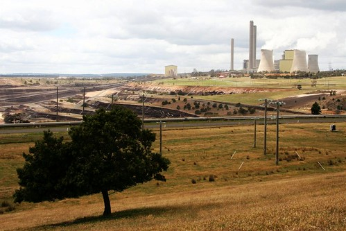 Overview of Loy Yang power station and and open cut mine