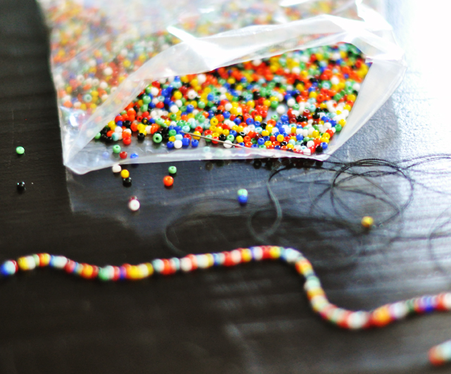 hanging beaded barrette DIY -3