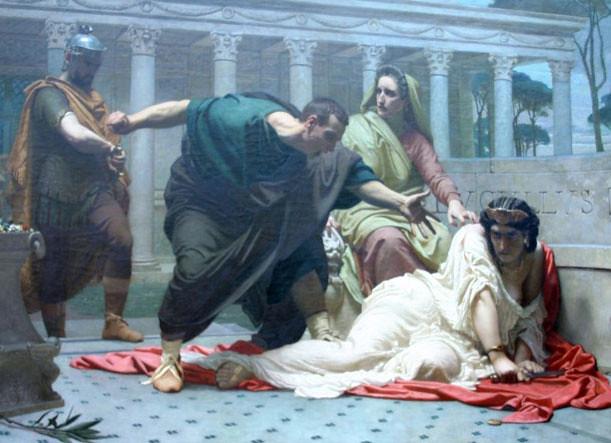Victor-François-Eloi Biennoury, La Mort de Messaline (1850)