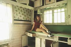 (yyellowbird) Tags: ohio house selfportrait abandoned kitchen girl shoes dress lolita cari plaid saddle saddleshoes tapdance