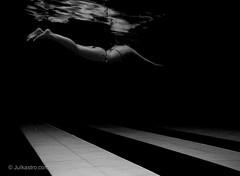 Silence of Depth_2676 (www.julkastro.co) Tags: abstract sexy art water pool girl composition swim canon mujer model agua aqua underwater experiment piscina h2o submarine nadar mermaids housing float delicate swimsuit abstracto silencio flotar composicion g12 julkastro silencion wpdc38 wwwjulkastroco