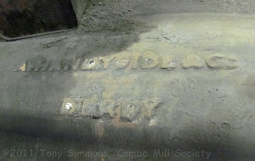 Handyside Badge on Combe Mill forge