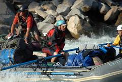The oar raft on Kameng river Adventure rafting and Kayaking trip