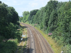View from Alexander Rookwood RoadRailway Foot Bridge to Tysley - July  2011 (DynaMickinAcocksGreen) Tags: green acocksgreen acocks edwardianrailwaystation