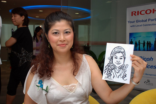 Caricature live sketching for Ricoh Roadshow - 7