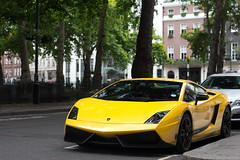 Banana. (Alex Penfold) Tags: auto camera london cars alex sports car sport yellow mobile canon square photography eos photo cool flickr bright image awesome flash picture super spot exotic photograph lp spotted hyper mayfair lamborghini 42 supercar ka spotting berkley numberplate exotica gallardo sportscar sportscars supercars lambo penfold spotter superleggera 2011 570 hypercar 60d hypercars lp570 alexpenfold 42ka