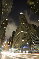 Chrysler + Capital Grille (kukutherobot) Tags: street newyork night exposure traffic wideangle chrysler streaks 42nd