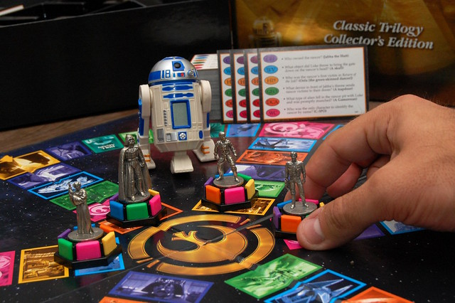 not just trivial pursuit...Star Wars Trivial Pursuit!