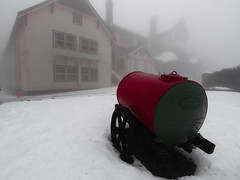"Historic Furphy water cart at Mt Buffalo chalet in the snow • <a style=""font-size:0.8em;"" href=""http://www.flickr.com/photos/44919156@N00/5978202284/"" target=""_blank"">View on Flickr</a>"