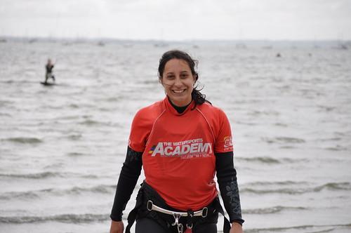 Happy kite surfer Mel!