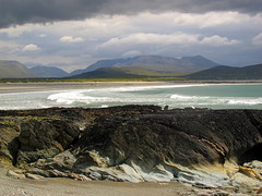 Mayo coast and mountains (hmb52) Tags: ocean ireland mountain seascape landscape atlantic beaches mayo mweelrea icanseemyhousefromhere emlagh sheeffry