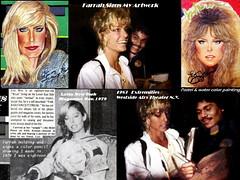 1983 Farrah Signs my artwork I (Sunnycloud101) Tags: collector farrah fawcett farrahlafawcettblogspotcom