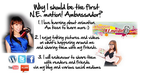Singapore Lifestyle Blog, N.E.mation! 6, Nemation, N.E.mation! 6 ambassador, blogging contests
