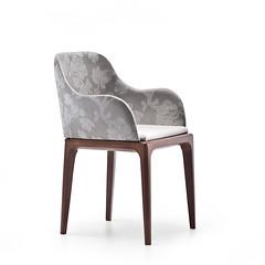 Sedia Bard P (Midjsedie) Tags: design fiori sedie sedia legno classico midj rivestimento braccioli