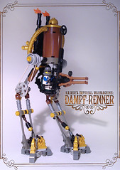 Dampf-Renner (captainsmog) Tags: weird war rivets lego machine steam walker weapon copper contraption guns stomp brass gears martian steampunk mocs moc prussian