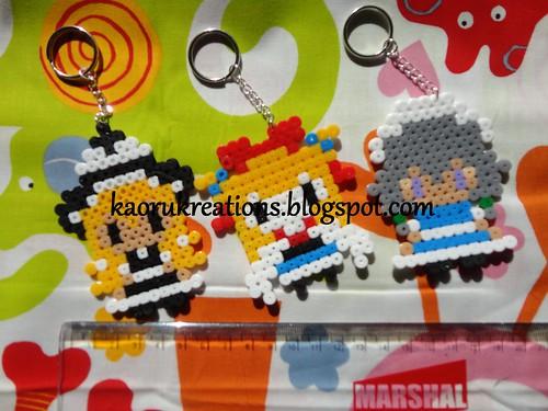 Touhou Characters Perler Beads Key Chain