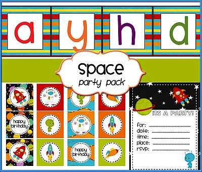 space party pack printable