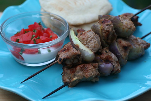 middle eastern grilled goat kabobs
